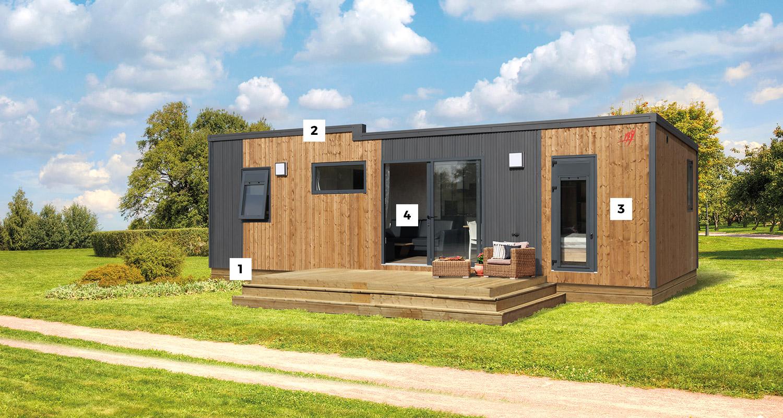 confort et esth tique des gammes de r sidences mobiles rapidhome fabricant de mobile homes. Black Bedroom Furniture Sets. Home Design Ideas